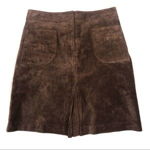 LILLY PULITZER Vintage Brown Suede Skirt Size 4
